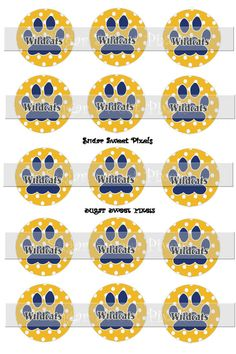 INSTANT DOWNLOAD Blue &  Polka Dot  Gold by sugarnspicebow on Etsy