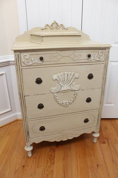 Vintage Ornate Highboy Chest of Drawers by InteriorsWithAStory