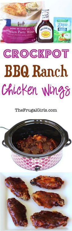 Crockpot Barbecue Ranch Chicken Wings Recipe! ~ from TheFrugalGirls.com ~ the perfect party food, game day recipe, and Fall family favorite! #bbq #recipes #thefrugalgirls