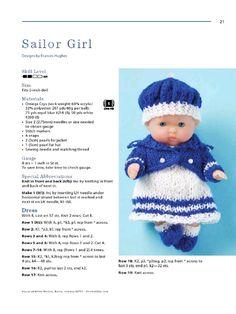 Aperçu du fichier Itty bitty knitties - Page - Fichier PDF Knitting Dolls Clothes, Crochet Doll Clothes, Doll Clothes Patterns, Baby Born Clothes, Girl Doll Clothes, Knitted Doll Patterns, Knitted Dolls, Baby Cardigan Knitting Pattern Free, Baby Knitting