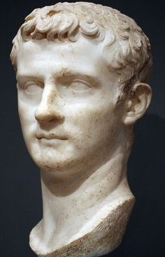 Emperor Caligula, Roman bust (marble), 1st century AD (Art School and Museum, Worcester Mass.).