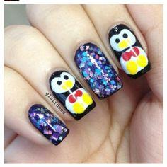 PENGUINS #nail #nails #nailart