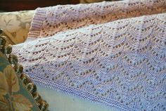 knit blanket pattern - Heirloom by madelinetosh