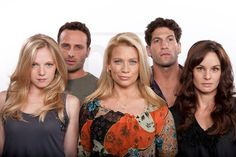 Emma Bell, Andrew Lincoln, Laurie Holden, Jon Bernthal and Sarah Wayne Callies