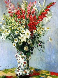 Bouquet of Gladiolas, Lilies and Dasies / Claude Monet - 1878