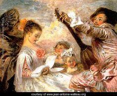 The Music Lesson 1719 - Jean-Antoine Watteau - www.jean-antoine-watteau.org