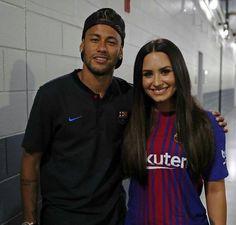 Neymar and Demi Lovato