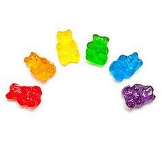 rainbow of gummy bears