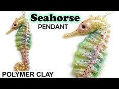 Polymer Clay Seahorse Pendant Tutorial || Maive Ferrando - YouTube