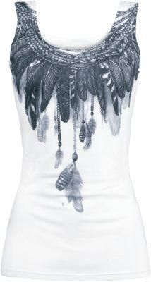 black and white feather t-shirt