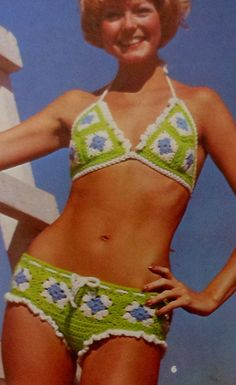 Aubrey......you might need this .....lol ...@aubreykittoombs. Retro Bikini Crochet Pattern