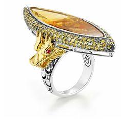 John Hardy..Custom Dragon Ring, white gold