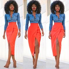 Over 40's Fashion Instagram Influencers We Should All Be Following Skirt Outfits, Chic Outfits, Dress Skirt, Fashion Outfits, Fashion Skirts, Office Outfits, Fashion Boots, Black Women Fashion, Curvy Fashion
