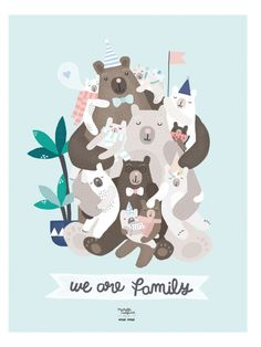 Affiche We are Family - Michelle Carlslund x émoi émoi EMOI EMOI - Photo