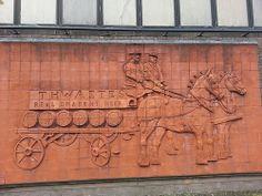 Thwaites' Brewery. Wall Tile Mural. Blackburn, Lancashire.
