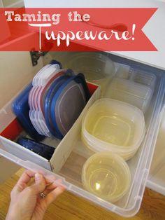 Taming the Tupperware - everyday organizing