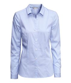 H&M Stretch Shirt $10 : Blue with contrast white collar and buttonholes
