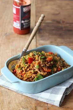 Shoarma nasi voor als je niet kunt kiezen - Francesca Kookt Dutch Recipes, Asian Recipes, Cooking Recipes, Healthy Recipes, Ethnic Recipes, Paella, Time To Eat, 30 Minute Meals, Rice Dishes