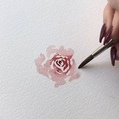 One of my most often requests is to paint loose roses, so I thought I would make an extended version of this tutorial from my wreath I… Watercolor Paintings For Beginners, Watercolour Painting, Rose Watercolour, Watercolor Landscape Tutorial, Watercolor Flowers Tutorial, Watercolor Design, Watercolors, Watercolor Techniques, Floral Watercolor