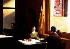 Reproduction of Chop Suey by Edward Hopper Jack Vettriano, American Realism, American Artists, Edward Hopper Chop Suey, Edouard Hopper, Tableaux Vivants, Social Realism, Mall, Matrix