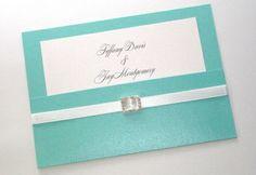 Tiffany blue themed wedding, creative ideas and thoughts Tiffany Blue Weddings, Tiffany Wedding, Tiffany Party, Azul Tiffany, Silver Wedding Invitations, Wedding Stationary, Wedding Cards, Pocket Invitation, Invitation Suite