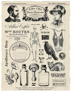 Le Dr Coffin Apothicaire #ephemera #vintage #printable