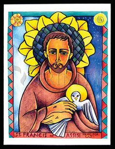 "St. Francis of Assisi | Catholic Christian Religious Art - Artwork by Br. Mickey McGrath, OSFS - From your Trinity Stores crew, ""May St. Francis watch over you today!"""