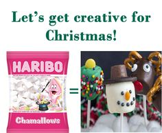 Let's get creative for Christmas, sweets for children. Marshmallow Snowman, Christmas Sweets, Large White, Snowmen, Children, Creative, How To Make, Gifts, Christmas Class Treats