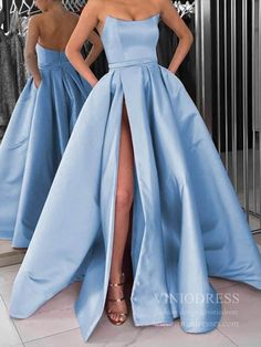 Cheap Strapless Gold Long Prom Dresses with Pockets Cheap Strapless Light Blue Long Prom Dresses with Pockets – Viniodress African Prom Dresses, Royal Blue Prom Dresses, Strapless Prom Dresses, Pretty Prom Dresses, Ball Gowns Prom, Quinceanera Dresses, Homecoming Dresses, Prom Dresses With Pockets, Bleu Royal