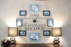 Create a Family Wall Clock on a small budget. I made this great Family Wall Clock using dollar store picture frames. I LOVE this easy and inexpensive Family Wall Clock