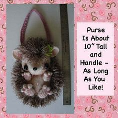 Little Girl's Baby Hedgehog Purse Bag Tote Crochet Pattern pattern by Peggy H. Reed