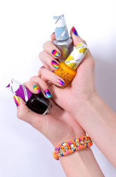 Color Paints. What will you make with our new blendable nail lacquer??