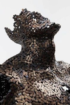 Recycled chain sculpture