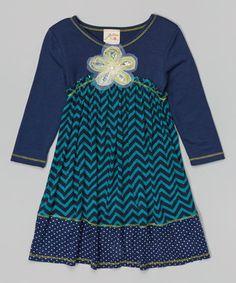 Navy Babydoll Dress - Toddler & Girls