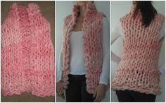 tricot gigante rosa