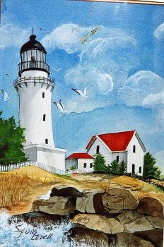 Lighthouse, Water Color Painting by Sylvia Lovell (77 pieces)