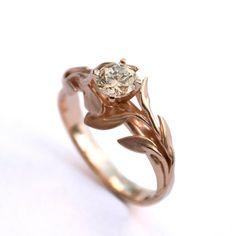 Leaves Engagement Ring No.4  18K Rose Gold par DoronMeravWeddings