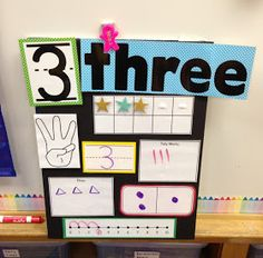"""A Spoonful of Learning: Number Boards For Your Classroom!""  My two year old went a bit number nutty and i was a bit lost trying to find number activities appropriate for a tiny tot. Other than counting. Everything. All. The. Time. This would have been a good inspiration."