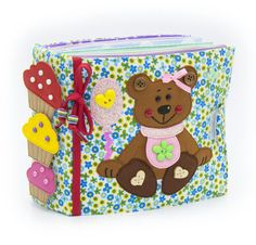 Quiet active book made of cloth is recommended for children from 2 year old. It consists of 7 sheets. On every of 12 pages there are different kinds of