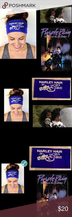 """🦋Harley Hair Dont Care🦋Royal Blue Headband If you ride or ride on the back🦋5"""" of soft luxurious nylon Will hold your hair in place and not dry it out🦋 look as good when you get off of the motorcycle as when you get on🦋5"""" wide🦋ADD ME2A BUNDLE🦋 Accessories Hair Accessories"""