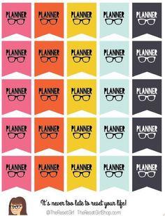 The Reset Girl's Planner Nerd Banners