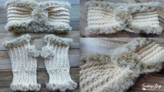 Elegant Faux Fur Headband Crochet Stitches, Knit Crochet, Faux Fur Headband, Front Post Double Crochet, Crochet Crafts, Single Crochet, Arm Warmers, Etsy Shop, Elegant