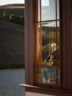 George Lucas at his office at the Lucasfilm Big Rock Ranch in Nicasio, California.