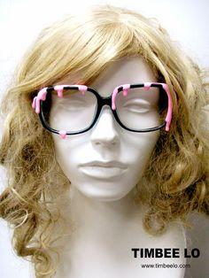 Shocking Pink - Ice-cream Eyeswear / Glasses. $322.00, via Etsy.
