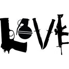 Love Guns Grenade Knifes logo vinyl decal sticker by KhongsDecals, $3.00