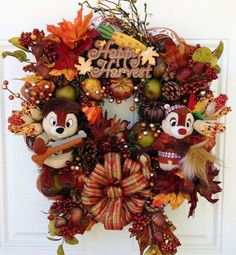 Happy Harvest Chip and Dale
