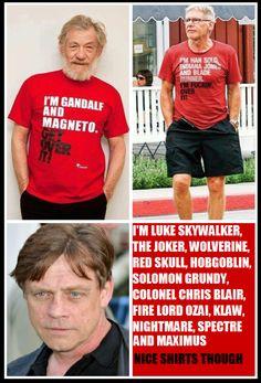 Mark Hamill owns Harrison Ford and Ian McKellen