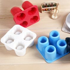 CY-buity 4-Cup Shape Rubber Shooters Ice Cube Shot Glass Freeze Mold Maker Tray Party >>> See this awesome product @ http://www.amazon.com/gp/product/B00Z9SIN0W/?tag=pinbaking-20&pop=030716044245