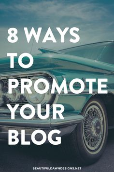 I'm always researching and thinking of different ways I can promote my website and blog. In this post, I'm sharing with you 8 ways to promote your blog.
