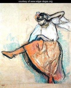 The Dancer, c.1895 - Edgar Degas - www.edgar-degas.org